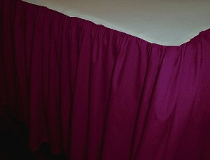 Solid Dark (Burgundy) Wine Colored Bedskirt (in all sizes from twin to cal-king also in crib size and daybeds with many custom skirt drop lengths)
