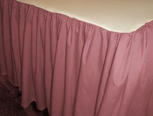 Solid Rose Colored Bedskirt (in all sizes from twin to cal-king also in crib size and daybeds with many custom skirt drop lengths)