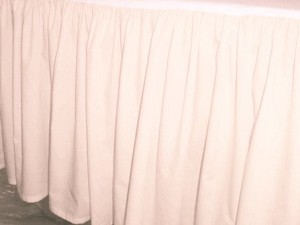 Nude Bed Skirt (Regular Ruffled)