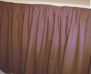 Solid Copper Colored Bedskirt (in all sizes from twin to cal-king also in crib size and daybeds with many custom skirt drop lengths)
