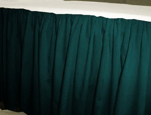 Dark Teal Bed Skirt (Regular Ruffled)