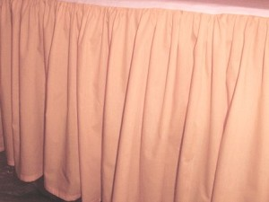 Solid Peach Colored Bedskirt (in all sizes from twin to cal-king also in crib size and daybeds with many custom skirt drop lengths)