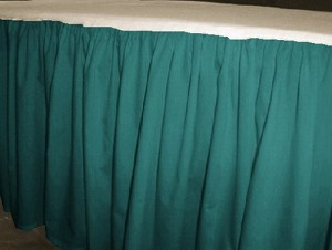 Solid Teal Colored Bedskirt (in all sizes from twin to cal-king also in crib size and daybeds with many custom skirt drop lengths)