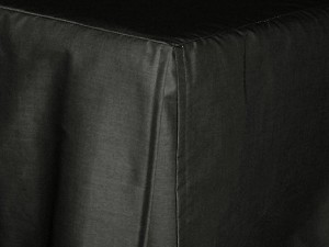 Black Tailored Bedskirt (for cribs and daybeds and twin, twin xl, full, queen, olympic queen, king and cal king sizes with several skirt drop lengths)
