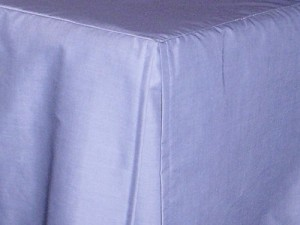 Blue Tailored Bedskirt (for cribs and daybeds and twin, twin xl, full, queen, olympic queen, king and cal king sizes with several skirt drop lengths)