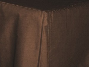 Brown Tailored Bedskirt