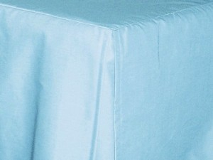 Light Blue (Baby Blue) Tailored Bedskirt (for cribs and daybeds and twin, twin xl, full, queen, olympic queen, king and cal king sizes with several skirt drop lengths)