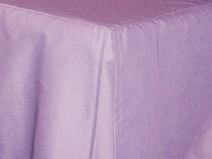 Light Purple (Lilac) Tailored Bedskirt (for cribs and daybeds and twin, twin xl, full, queen, olympic queen, king and cal king sizes with several skirt drop lengths)