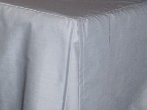 Light Silver Gray Tailored Bedskirt (for cribs and daybeds and twin, twin xl, full, queen, olympic queen, king and cal king sizes with several skirt drop lengths)