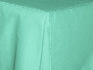 Mint Green Tailored Bedskirt (for cribs and daybeds and twin, twin xl, full, queen, olympic queen, king and cal king sizes with several skirt drop lengths)