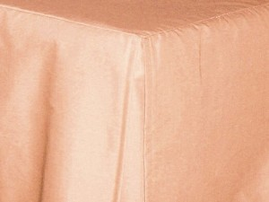 Stock Photo: Peach-Apricot Tailored Bedskirt