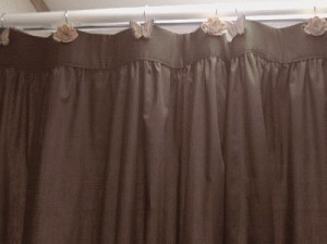Solid Brown Colored Shower Curtain