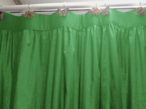 Solid Kelley Green Colored Shower Curtain