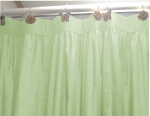Solid Light Green Colored Shower Curtain