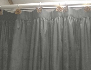 Medium Gray Shower Curtain
