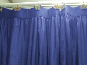 Solid Royal Blue Colored Shower Curtain