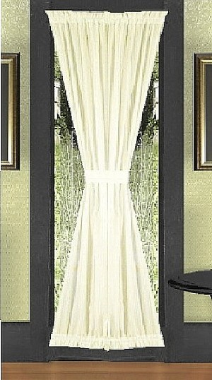 Single Panel French Door Curtain (available in all solid colors and many lengths)