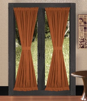Buy Beautiful Solid Rust Colored Curtains French Door At