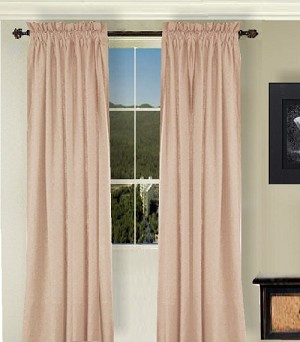 Solid Nude-Blush Colored Window Long Curtain (available in many lengths and 3 rod pocket sizes)