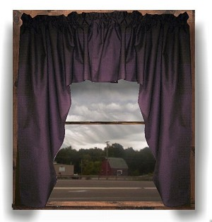 Eggplant Purple Swag Window Valance