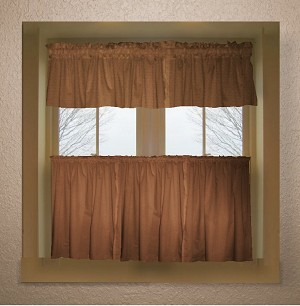 Copper Brown Kitchen Curtain (Bottom Only)