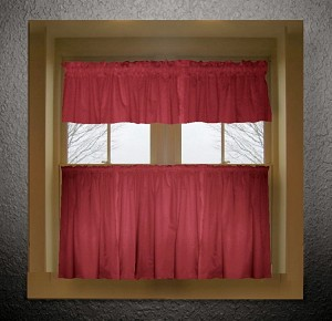 Red Kitchen Curtain (Bottom Only)