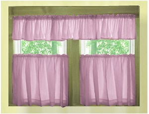 Violet Purple Kitchen Curtain with Valances