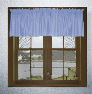 Solid Caribbean Blue Color Valances (set of two 40 inch wide, available in many lengths)