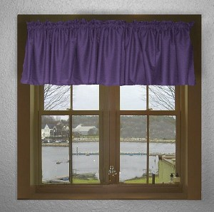 Solid Purple Color Valances (set of two 40 inch wide, available in many lengths)