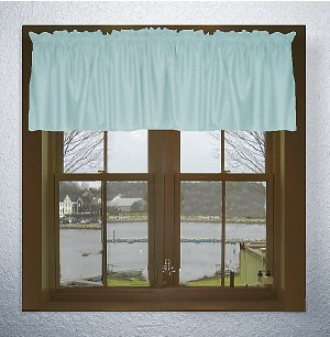 Solid Light Blue-Baby Blue Color Valances (set of two 40 inch wide, available in many lengths)