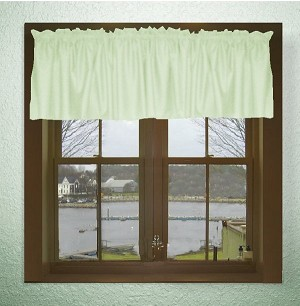 Solid Light Green Color Valances (set of two 40 inch wide, available in many lengths)