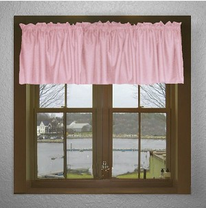 Solid Pink Color Valances (set of two 40 inch wide, available in many lengths)