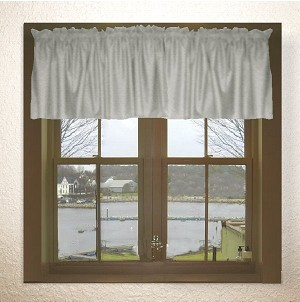 Solid Light Silver Gray Color Valances (set of two 40 inch wide, available in many lengths)