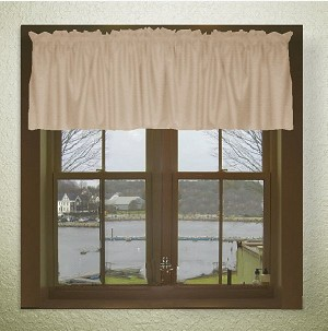 Solid Tan-Beige Color Valances (set of two 40 inch wide, available in many lengths)