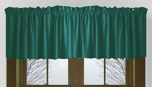 Teal Window Valance