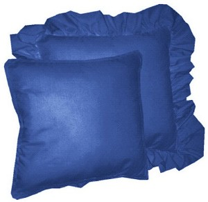 Royal Blue Throw Pillow (Ruffled or Corded Edge)