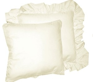 Soft White Throw Pillow (Ruffled or Corded Edge)