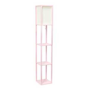 Light Pink Organizer Storage Shelf Floor Lamp