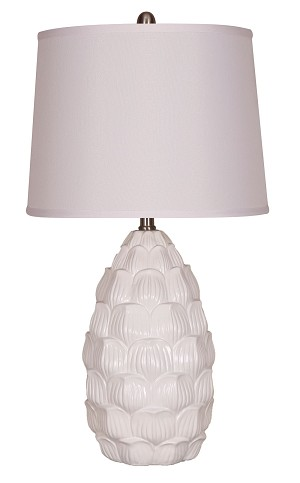 Resin White Table Lamp