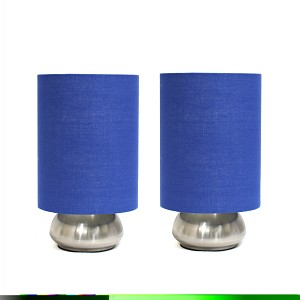 2 Pack Gemini Mini Touch Lamp with Brushed Nickel Base