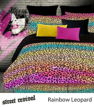 Rainbow Leopard, 4-PC Queen Comforter Set (Multi)